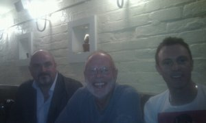 Barry with Whispering Bob Harris and Mark Whitfield, editor of Americana-uk.com