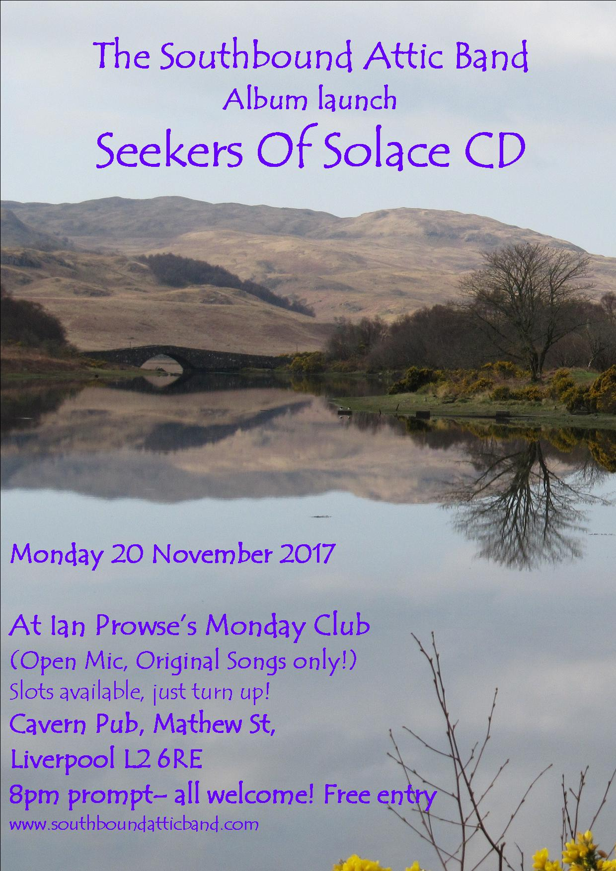 seekers of solace launch poster